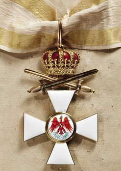 Order of the Red Eagle, Type V, Military Division, I Class Cross (with crown & swords, in gold)