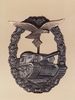 Luftwaffe Panzer Assault Badge, in Black