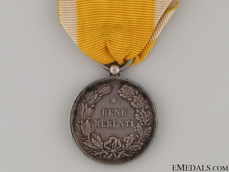 Bene Merenti Medal, Type IV, Small Silver Medal Reverse