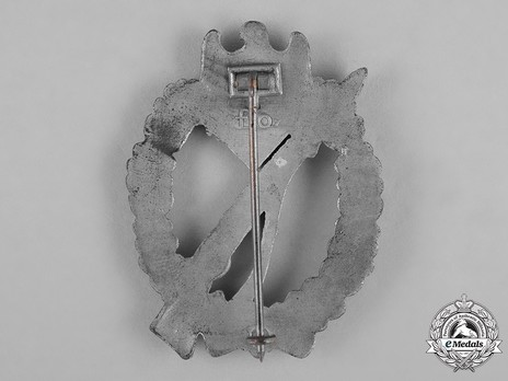 Infantry Assault Badge, by F. Orth (in silver) Reverse