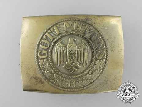 Kriegsmarine NCO/EM Belt Buckle (Gilt version) Obverse