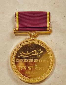 Empress of India Medal, in Gold