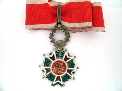 Order of the Brilliant Star of Zanzibar, Type II, III Class Commander Obverse
