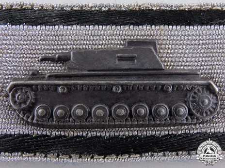 Tank Destruction Badge, in Silver (in blackened iron) Obverse