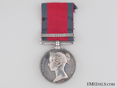 "Silver Medal (with ""TOULOUSE"" clasp) Obverse"