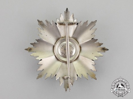 Order of the Romanian Crown, Type I, Civil Division, Grand Cross Breast Star Reverse