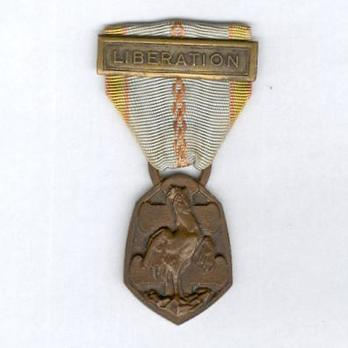 """Bronze Medal (with """"LIBERATION"""" clasp, stamped """"G. SIMON"""" """"F. JOSSE"""") Obverse"""