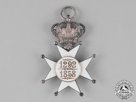 Order of Civil and Military Merit of Adolph of Nassau, Officer with Crown Reverse