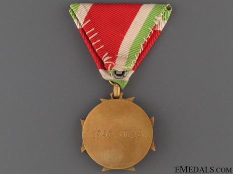 Crew Long Service Decoration (for Officers) Reverse