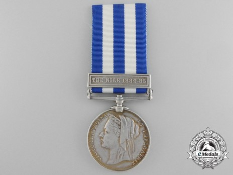 "Silver Medal (with ""THE NILE 1884-85"" clasp) Obverse"