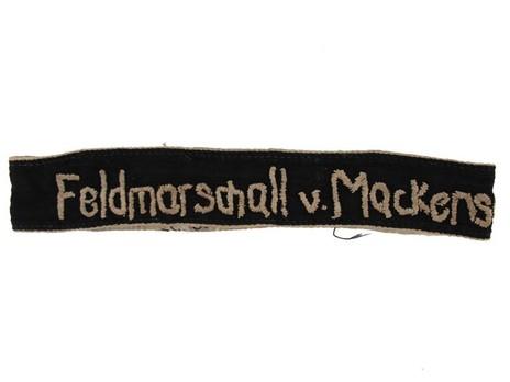 German Army Feldmarschall v. Mackensen Cuff Title Obverse