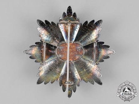 Order of San Marino, Type I, Military Division, Grand Cross Breast Star Reverse