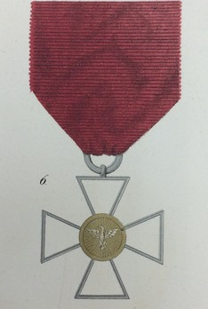 Order of the White Falcon, Type II, Civil Division, Honour Cross (in gold,1840-1853)