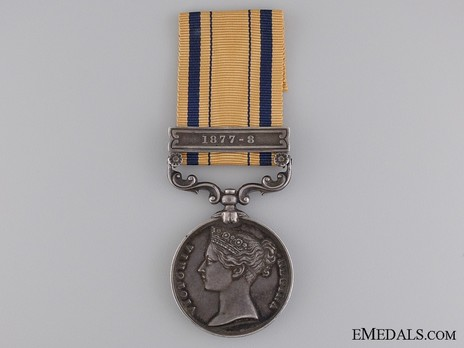 """Silver Medal (with """"1877-8"""" clasp) Obverse"""