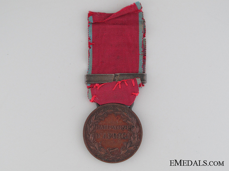 Medal for the Africa Campaign Reverse