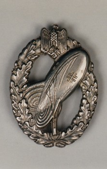 Balloon Observer Badge, in Silver Obverse