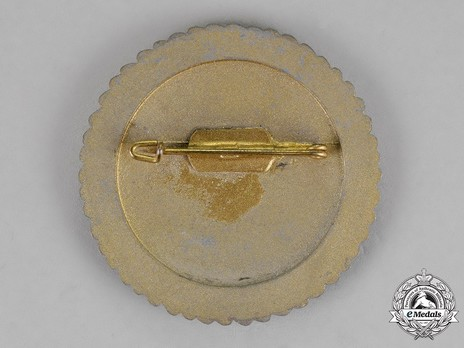 Tyrolean Marksmanship Gau Achievement, Type VII, Champion Badge (for small calibre rifle) Reverse
