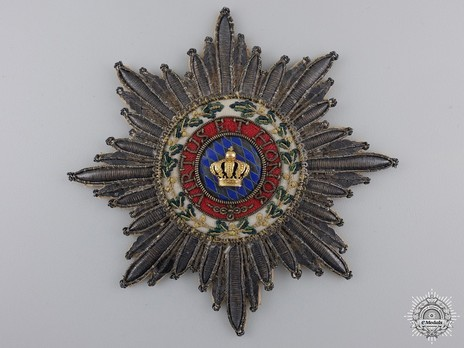 Merit Order of the Bavarian Crown, Grand Cross Breast Star (in cloth) Obverse