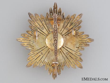 Grand Cross Breast Star (white distinction) Reverse