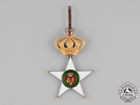 Order of the Colonial Star of Italy, Commander Cross Obverse