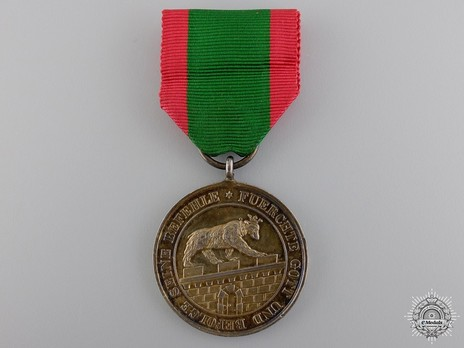 Gold Medal of Merit (in silver gilt) Obverse