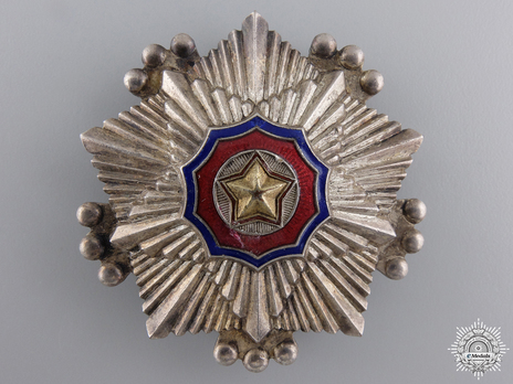 Order of the National Flag, III Class Obverse