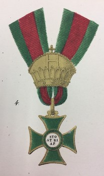 Order of St. Stephen, Type I, Knight (1764-1840)