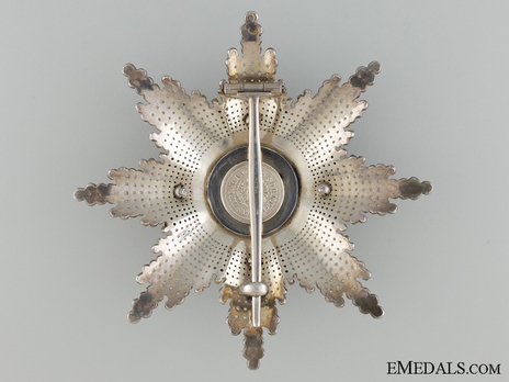 Type III, Civil Division, Grand Cross Breast Star Reverse
