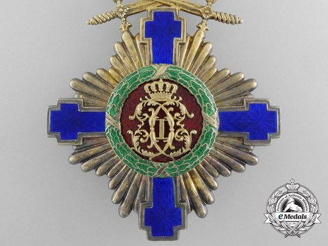 The Order of the Star of Romania, Type I, Military Division, Commander's Cross Reverse