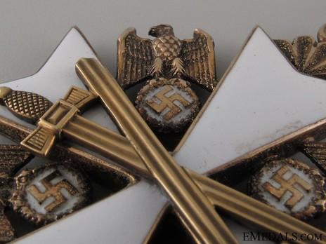II Class Cross with Swords Detail