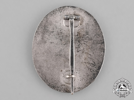 Wound Badge, in Silver Reverse