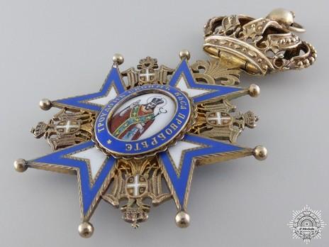 Order of Saint Sava, Type II, I Class Obverse