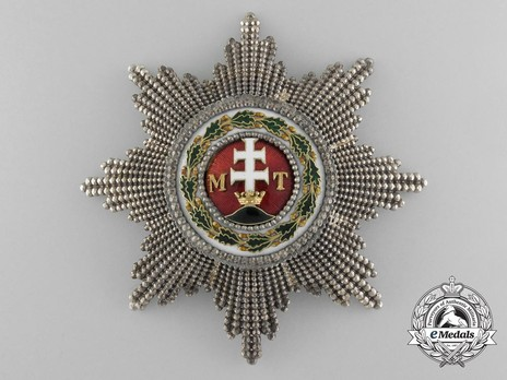 Order of St. Stephen, Type III, Grand Cross Breast Star (with faceted rays) Obverse