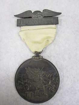 Jeannette Arctic Expedition Medal, in silver, obverse