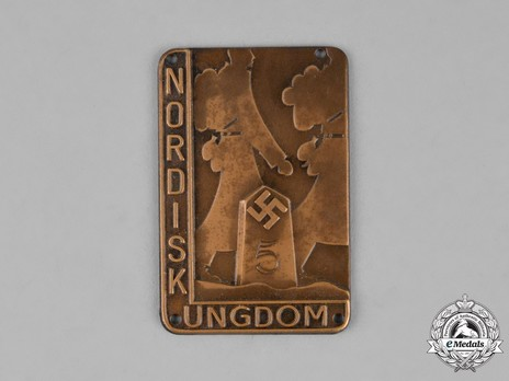 Nordic National Socialist Youth Movement Badge Obverse