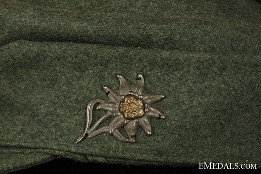 German Army NCO/EM's Mountain Cap Edelweiss Detail