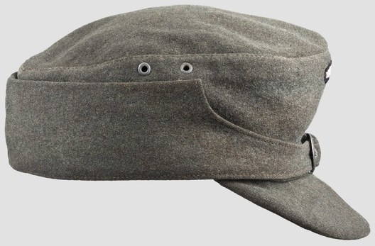 Waffen-SS NCO/EM's Mountain Cap (buckled version) Right