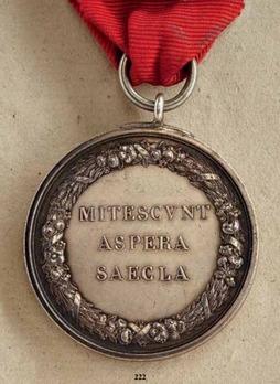 """Merit Medal """"MITESCVNT ASPERA SAECLA"""", in Silver (stamped """"ANDRIEU F."""")"""