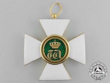 Order of the Oak Crown, Grand Cross (in Gold) Reverse