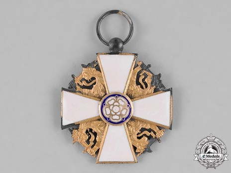 Order of the White Rose, Type II, Civil Division, I Class Knight Cross Obverse