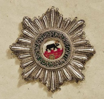 Order of Albert the Bear, Grand Cross Breast Star (embroidered)
