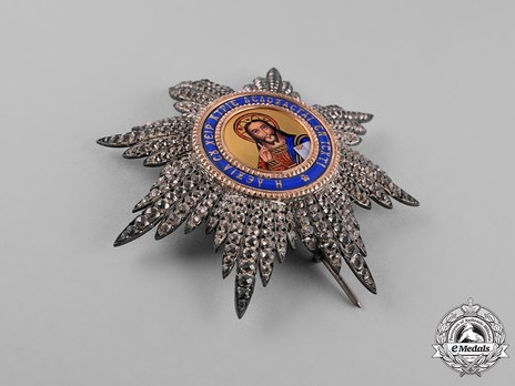 Order of the Redeemer, Type II, Grand Officer's Breast Star Obverse