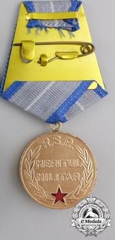Medal of Military Merit, I Class (1965-1989) Reverse