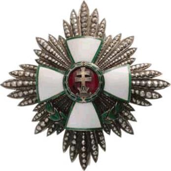 Hungarian Order of Merit, Grand Officer Breast Star, Civil Decoration Obverse