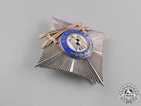 Order of the Ruling House, Grand Officer's Cross Breast Star (with swords, 1937-1938) Obverse