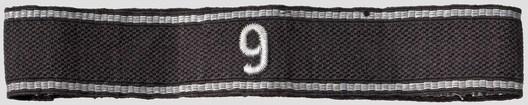 Allgemeine SS 9th Standarte Cuff Title Obverse