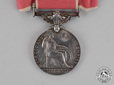 """Silver Medal (for civilians, with King George VI """"GRI"""" cypher) (for ladies) Reverse"""