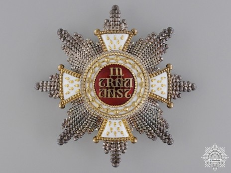 Grand Cross Breast Star (Silver/Silver gilt by Rothe) Obverse
