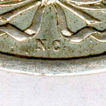Medal for the Siege of Rome in Silver Obverse Detail