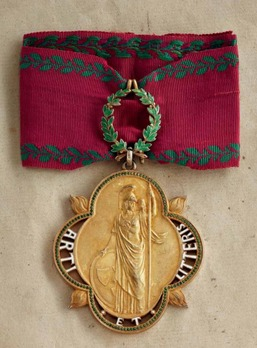 Decoration for Art and Science (in silver gilt)